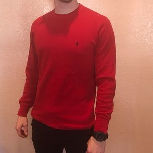 Polo Ralph Lauren Red Long-Sleeve Tee